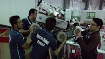 Raw: Robots Race, Play Soccer in Iran Contest