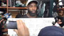 Eagles' Malcolm Jenkins Lets Signs Do His Talking On Racial Injustices