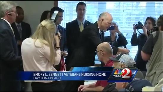 Gov. honors nursing home residents with service award
