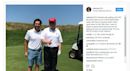 Photos capture Trump playing golf during 'working vacation'