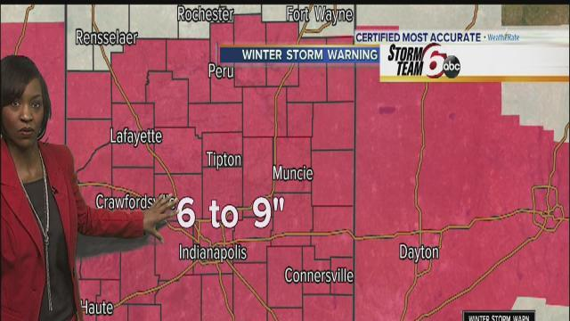 Snow moves in as winter storm warning continues