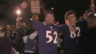 Super Bowl-Bound Ravens Fans Celebrate Win