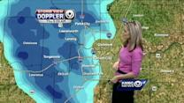 Snow moves toward KC