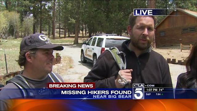 3 Hikers Missing in Big Bear Found Safe