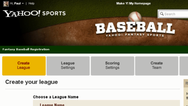 Creating a Fantasy Baseball League