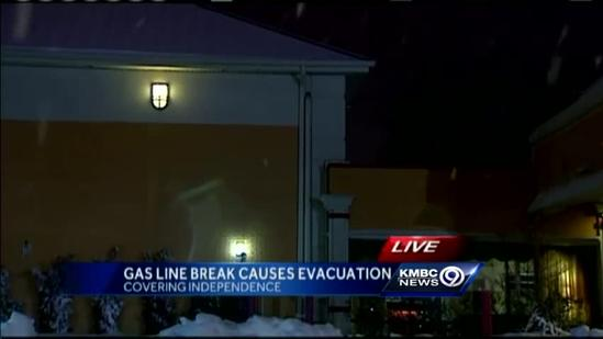 Independence motel evacuated after gas line ruptures
