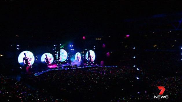 White hot Coldplay colour the Cauldron