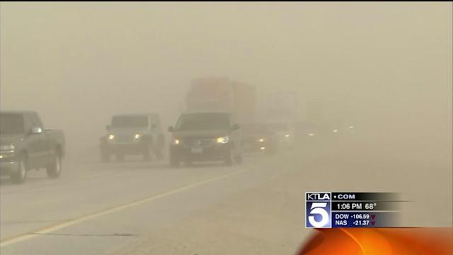 Drivers Cautioned As Wild Winds Hit SoCal
