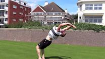 Parkour team performs high-flying stunts