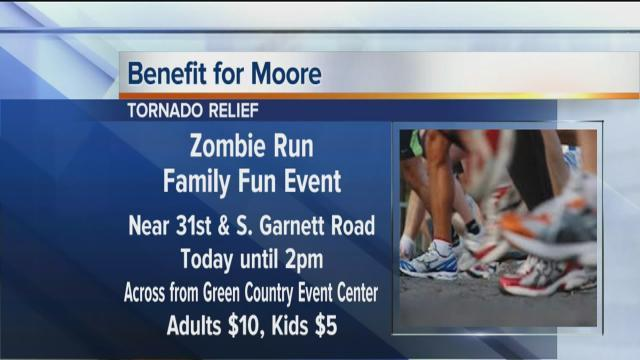 Zombies run for Moore tornado relief event at Wright Career College benefit event