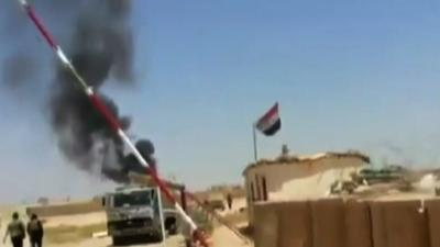 Raw: ISIL Fighters Attack on Iraq-Syria Border