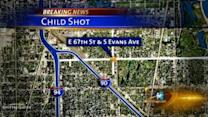 9-year-old boy shot while riding in car near 67th and Evans