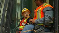 Toddler with cancer gets to be foreman for a day in SF