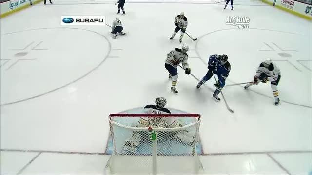 Jamie McGinn redirects a PPG by Miller