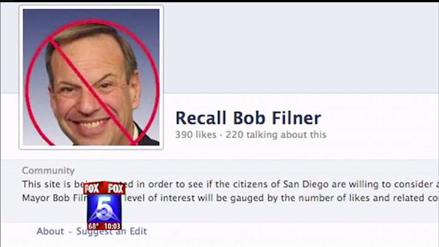 Effort To Recall Mayor Filner