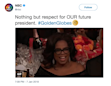 NBC deletes tweet welcoming 'OUR future president' Oprah