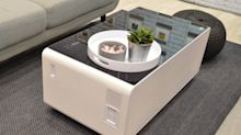 Store your beer and charge your phone with this high-tech coffee table