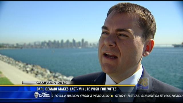 DeMaio, Filner make last-minute push for votes