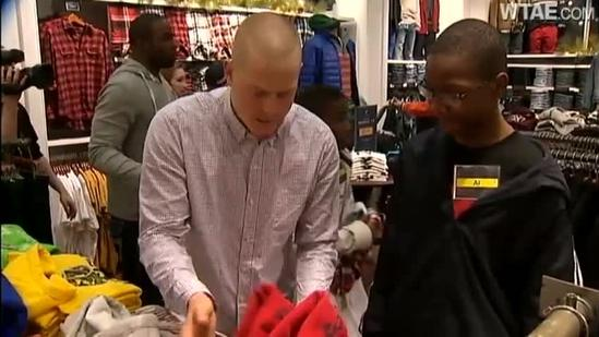 Steelers Holiday Shopping Trip