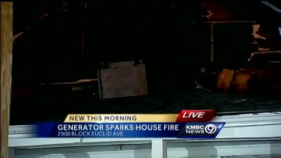 Generator blamed for sparking east KC house fire
