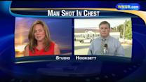 Police: Man suffers gunshot wound to chest outside gas station