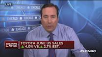 Toyota June US sales better than expected