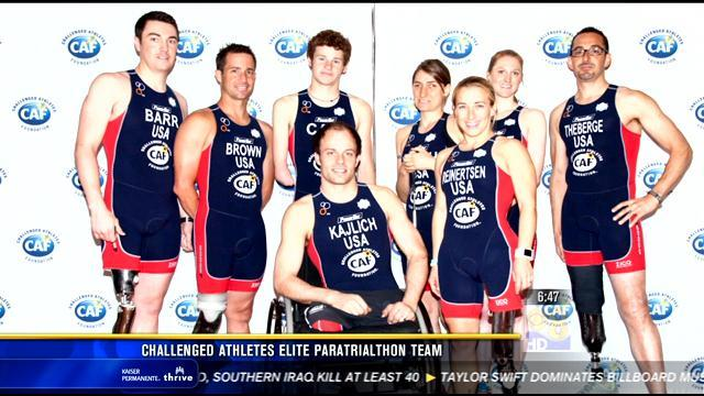 Challenged athletes elite paratriathlon team