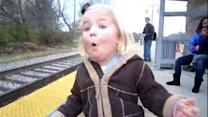 'GMA' Play of the Day: Little Girl Really Loves Trains