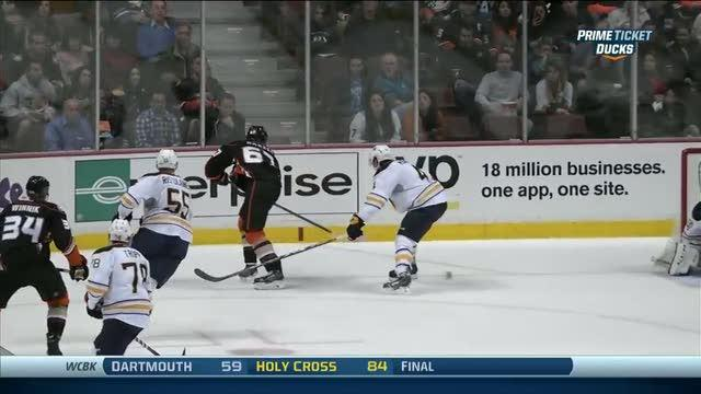 Rickard Rakell's no-look backhand assist