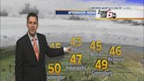 Thursday's Forecast: Temps near 50, chain of rain