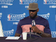 LeBron James got into a confrontation with a fan and criticized a reporter following ugly Game 3 loss