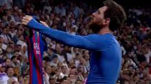 Lionel Messi had an epic celebration after his game-winning goal in El Clásico