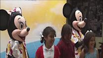 Disney On Ice skaters, characters meet with PAL kids