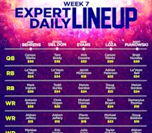 Daily Fantasy Football expert lineups for Week 7