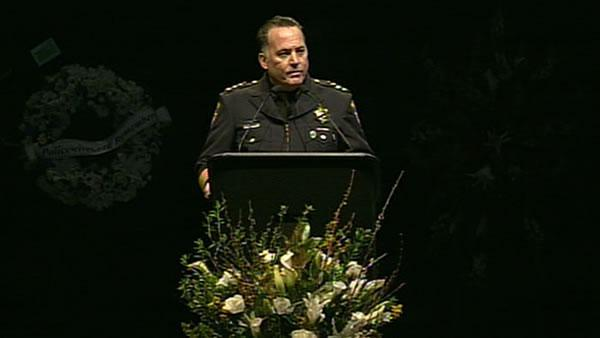 Santa Cruz Police Chief Kevin Vogel speaks at memorial