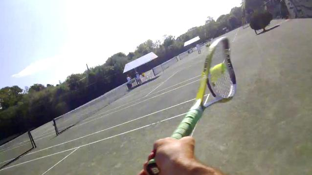 Here's What Playing Tennis Looks Like When You're Wearing Google Glass