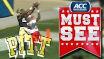 Pitt WR Tyler Boyd Reels in Acrobatic TD Catch | ACC Must See Moment