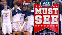 Virginia's London Perrantes Lobs Halfcourt Alley-Oop To Akil Mitchell | ACC Must See Moment
