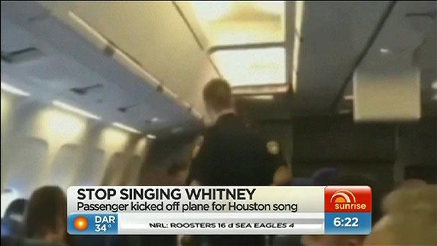 Kicked off a plane for singing
