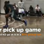 Watch LeBron, 'Melo, Kevin Durant and more go at it in an NYC pickup run