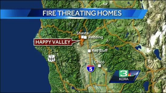 Body found in mobile home in Shasta County fire