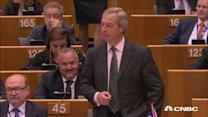 Nigel Farage booed and jeered