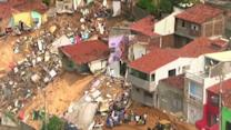 Raw: Sinkhole Widens in Village Near World Cup