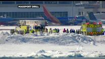 Officials Carry Out Drill To Keep Logan Airport Emergency Squads Prepared