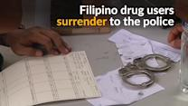 Filipino drug users line up to hand themselves in