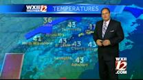 Mixed skies with partly cloudy and sun in the Triad