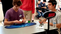 Teen breaks world-record time for solving Rubik's Cube