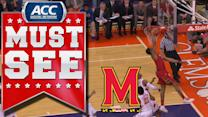 Maryland's Nick Faust Throws Down Tough Alley-Oop | ACC Must See Moment
