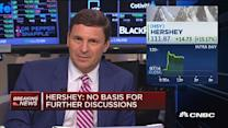 Hershey's very quick rejection