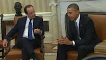 Obama, Hollande begin talks at White House